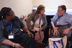 Courtland Townes, III of BCIL, Rosalie Edes of EOHHS and Paul Spooner of MWCIL
