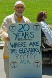 sign: 20 years. T - Where are the Elevators - ????
