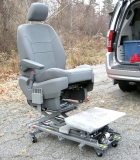 The driver side seat can be removed for a wheelchair