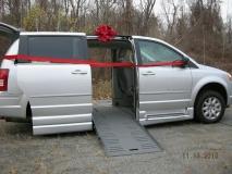 New van has wheel chair ramp