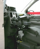 Multiple sets of adaptive controls are installed and can be switched on or off.
