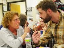 Debbie and Paul talk.