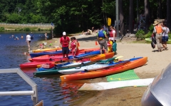 Kayaks beached
