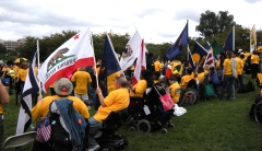 Participants with state flags.