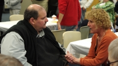 Joe Bellil, V.P. at Easter Seals, and Debbie