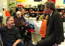 Mike Kennedy, VP of the MWCIL BOD and Kirk Joslin, President and CEO of MA Easter Seals