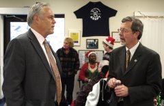 State Representative Chris Walsh and Kirk Joslin, President and CEO of MA Easter Seals