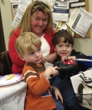 Karen Dempsey, chair of the Framingham Disability Commission, with her two boys, Joe and Will.