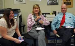 Linda Murtaugh, Eva Willens and Administrator Ed Carr of the MWRTA