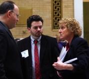 Debbie talks to Rep. Stephen Levy
