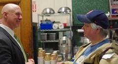 Mimi talks to Rep. Tom Sannicandro