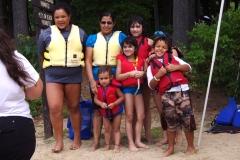 Family ready to kayak