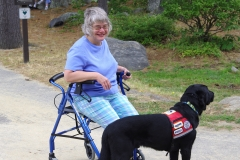 woman and service dog