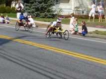 two wheelchair racers