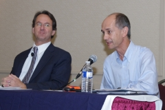 Henry Claypool (Administration for Community Living) and Bill Henning (BCIL)