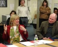 Senator Karen Spilka and Representative Daniel Winslow