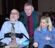 Bill Allan of the Disability Policy Consortium with John Kelly and Kristen McCosh.