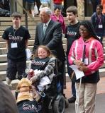 Mayor Menino with disAbility youth