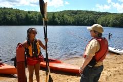 Bonnie gets ready to kayak