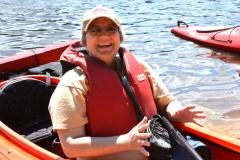 Bonnie in kayak