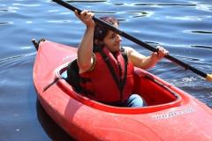 Colleen kayaks