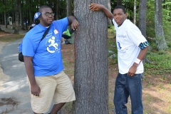 Two boys and a tree