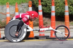 wheelchair racer - side view
