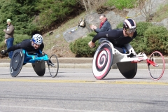 Front - Josh Cassidy of Canada, Back - Jorge Madera of Spain