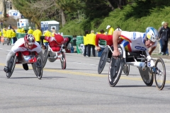 Krige Schabort and three other wheelchair racers