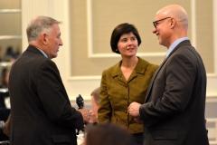 Bill Allan (l), State Reps Carolyn Dykema and Tom Sannicandro