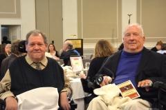 MRC Commissioner Charlie Carr (l) and former Commissioner Elmer Bartels (r)