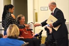 Ed Carr presents Liz Casey with the IL Achievement Award