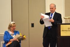 State Senator Karen Spilka is roasted by her husband, Joel Loitherstein