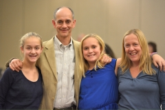 Awardee Bill Henning, BCIL, and his family