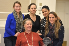 Awardee Liz Casey, PCA Workforce Council, and her family