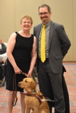 Jini from MWCIL with her son and dog