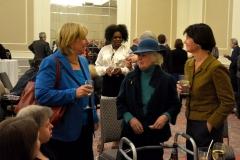 State Senator Karen Spilka (left) and State Rep. Carolyn Dykema (right)