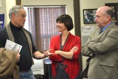 Reps Chris Walsh and Carolyn Dykema, and Edd Carr (MWRTA)