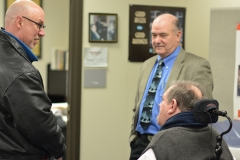 Rep. Sannicandro, Ed Carr (MWRTA) and MRC Commissioner Charlie Carr