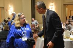 John Polanowicz, Secretary of EOHHS talks to Judy