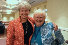 Ann Ruder and Mary Margaret Moore of ILCNSCA
