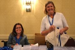 Liz and Christine registered attendees