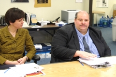 Representative Carolyn Dykema and Joe Bellil, MWCIL BOD President and V.P. at MA Easter Seals