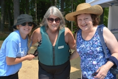 Sarah, Pat and Debbie from MWCIL