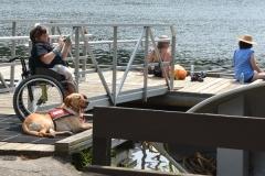 women on the dock