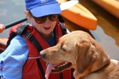 Jini and Rue in kayak