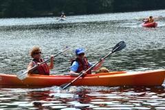 Debbie, Jini and Rue kayak