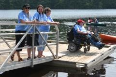 Sarah, Sadie, Rose and Paul on the dock