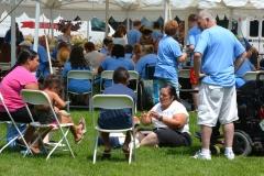 food tent - Bill Allan on right