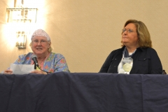 Mary Margaret Moore from ILCNSCA and Lou Ann Kibbee from NCIL